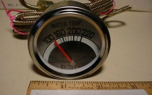 Water Temp Gauge With Remote Sender Approx 5 Ft Long Lot Of 3 Pcs
