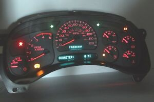 03 04 Red Led Rebuilt Chevy Gmc Duramax Diesel Instrument Cluster 70 Money Back