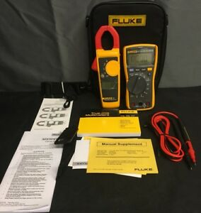 Fluke 117 True Rms Multimeter 323 True Rms Clamp Meter Bundled