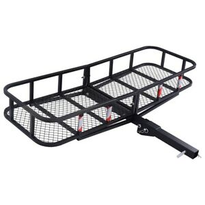 Folding Cargo Carrier Luggage Steel Rack Hauler Truck Car Hitch 2 Receiver Us