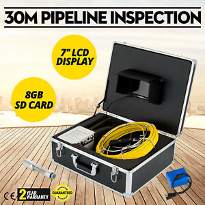 30m Sewer Pipeline Inspection Camera Video Snake Cam Aluminum Spy Holiday Good