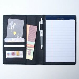 Ahzoa Colorful 4 Pockets A5 Size Memo Padfolio S1 50 Sheets Writing Pad Leather