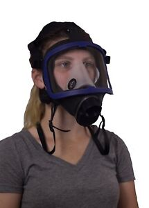 Full Face Silicone Respirator Mask Nbc Protection For Industrial Use Chemical H