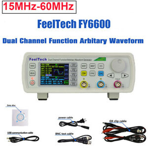 Feeltech Fy6600 15 60mh 2 ch Dds Function Signal Generator Kit Sine square pulse