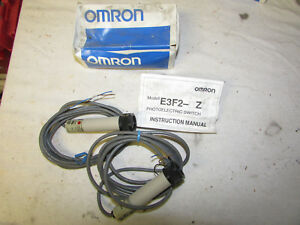 Nos Omron Photoelectric Switch Sensor E3f2 3z2 2m 24 To 240 Vac