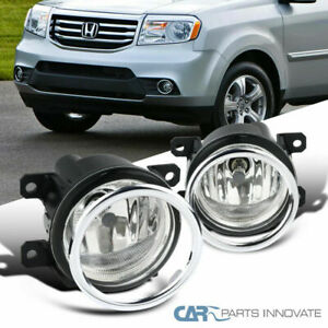 Fit 12 15 Honda Pilot Glass Lens Fog Driving Lights Bumper Lamps switch cover