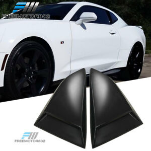 Fits 16 17 Chevy Camaro Coupe 2dr Rear Quarter Window Scoops Louvers Pu