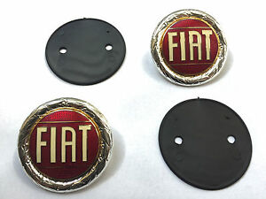 Set Fiat 124 Spider And X1 9 Hood Emblem New