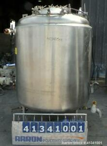 Used Mueller Reactor 350 Gallon 316l Stainless Steel Vertical 48 Diameter