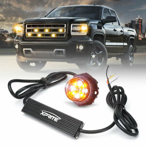 Xprite Vehicle Emergency Strobe Rotating Round 30 Led Beacon Warning Light Amber