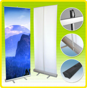 15qty Pack 24x79 Retractable Banner Stand Custom Display Free Printing