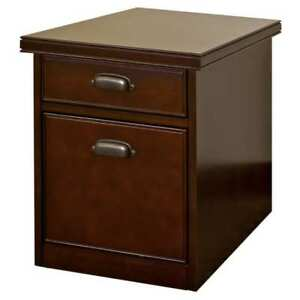 Tansley Landing Cherry Rolling File Cabinet