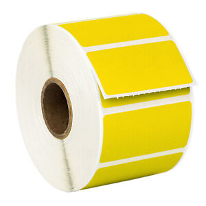 Zebra 2 X1 Color Direct Thermal Labels Yellow 10 Rolls Of 1300 Gx420t Lp2824