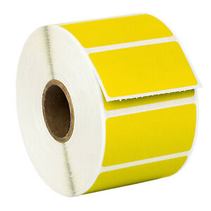 Zebra 2 X1 Color Direct Thermal Labels Yellow 28 Rolls Of 1300 Gx420t Lp2824