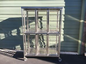 Aesculap Md262 Large Open Container sterilizer Cart W Md265 Rack Compartment