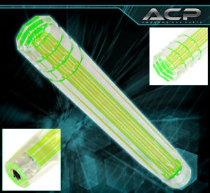 For Honda 12 M8x1 25 Clear 3d Style Long Extended Dildo Shift Knob Racing Green