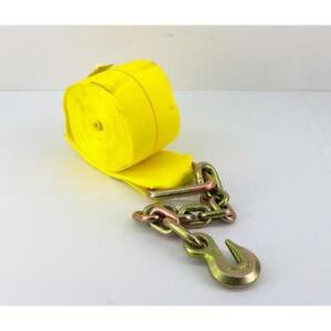 Power Products 27 X 4 Winch Strap W chain Anchors Lcw427ca