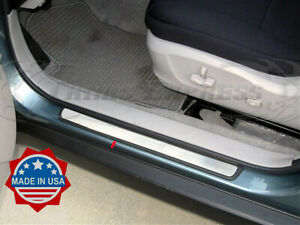 Fit 2008 2013 Subaru Forester Door Sill Step Plate Protection Chrome Trim 4pc