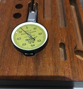 Brown Sharpe Bestest Dial Indicator 599 7030 13 0 01mm Increments