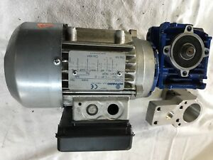 Motovario Nmrv 030 Electric Motor With 90 Degree Reducer