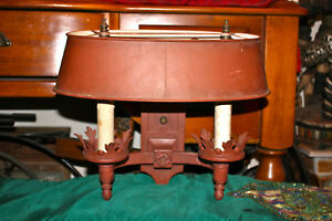 Antique Medieval Double Light Socket Wall Sconce Light Fixture W Shade Gothic