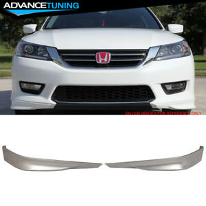 Fits 13 15 Accord Sedan Hfp Front Lip Painted Nh700m Alabaster Silver Metallic