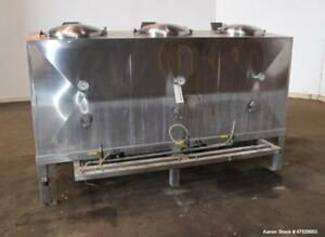 Used 3 Compartment Tank Approximate 550 Total Gallon 304 Stainless Steel E