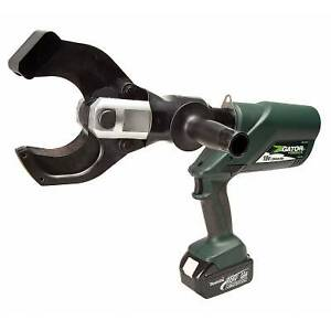 Greenlee Esc85l11 18v Battery powered Cable Cutter With 120v Charger And Case
