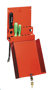 Sunex Tools Locking Screwdriver pry Bar Holder For Service Cart Red 8008