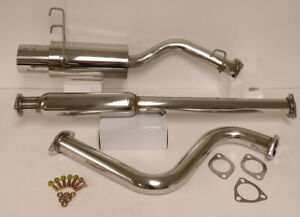 Catback Muffler Exhaust System Stainless Steel For 93 94 95 96 97 Honda Del Sol