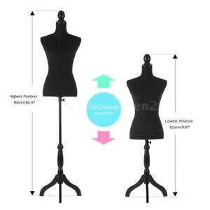 Female Mannequin Torso Dress Form With Wood Tripod Stand 34 26 35 Ikayaa X1k3