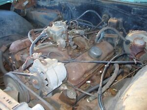 1966 Pontiac Complete 389 Engine Yc Code 290 Hp Block Catalina