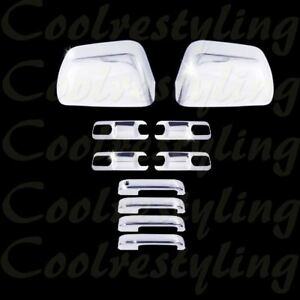 For 17 18 Ford F250 F350 Mirror 4 Handle W o Skh Bowl Plate Chrome Cover