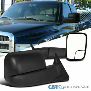 Dodge 98 01 Ram 1500 2500 3500 Pickup Power Heated Flip Up Towing Side Mirrors