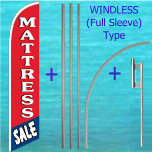 Mattress Sale Windless Banner Flag Pole Mount Kit Tall Curved Feather Swooper