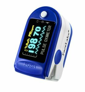Facelake Fl 350 Finger Pulse Oximeter With Carrying Case Lanyard
