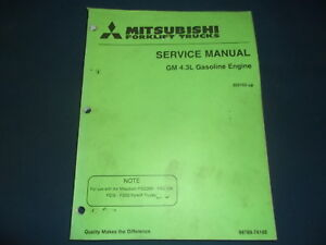 Mitsubishi Gm 4 3l Gas Engine For Forklift Service Shop Repair Workshop Manual