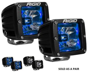 Rigid Industries D Series Radiance Pods With Blue Back Light Pair
