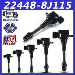 6 X New Ignition Coil Oem 22448 8j115 For Nissan Frontier Maxima Infiniti Qx4