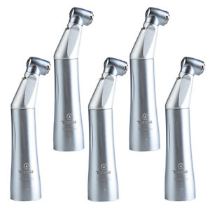 5x Tosi Dental Led Low Speed Inner Water Fiber Optic Push Contra Angle Handpiece