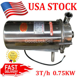 110v Stainless Steel Sanitary Pump Sanitary Beverage Milk Delivery Pump 3t h Us