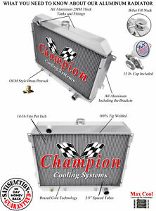 Champion 4 Row Aluminum Radiator Mc374 For Dodge Plymouth Mopar Cars 26in Core