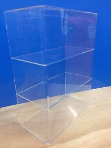 Ds acrylic Lucite Countertop Display Showcase Cabinet 12 X 6 X 16 h 2 Shelves