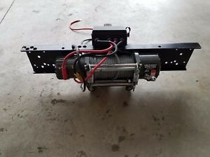 Badland 12000lb Electric Winch Mounting Plate Hitch Diehard Deep Cycle Battery