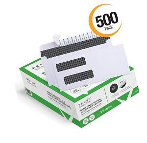 500 Self Seal Double Window Security Tinted Envelopes Designed For Business