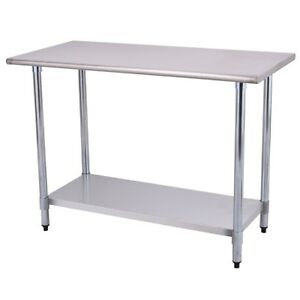 Home Kitchen Restaurant Desk Stainless Steel Work Prep Table Desk Useful New
