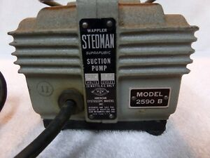 Stedman Vacuum Suction Pump Model 2590 B