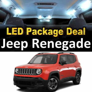 For 2015 2017 2018 Jeep Renegade Led Lights Interior Package Kit White 12pcs