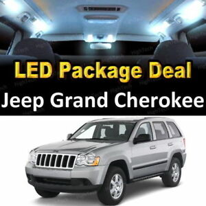 For 2005 2006 Jeep Grand Cherokee Led Lights Interior Package Kit White 6pcs