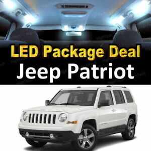 For 2007 2017 2018 Jeep Patriot Led Lights Interior Package Kit White 6pcs